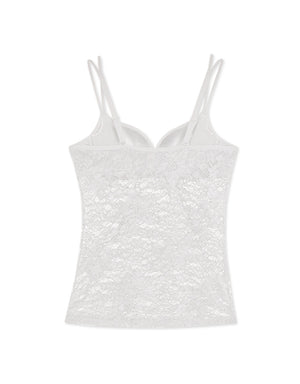 COOLING PUSH UP WIRELESS LACE BRA CAMISOLE