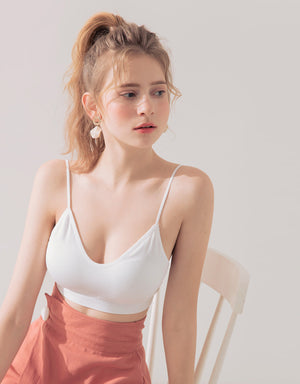 Thin Strap Ribbed Bralette