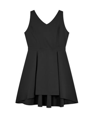 Textured Back Ribbon Sleeveless Dress