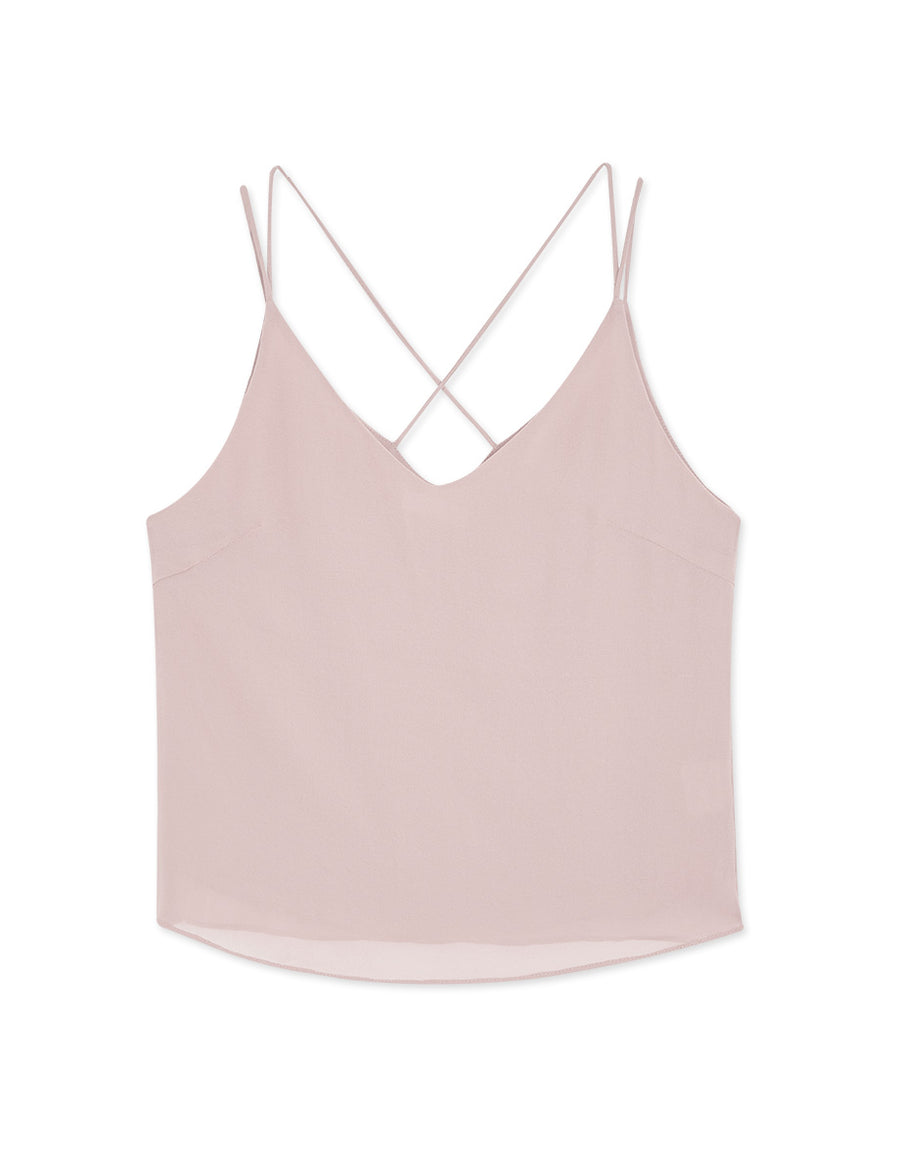 Double Straps Chiffon Cami Top