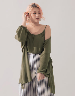 CASUAL CAMISOLE  CARDIGAN SET