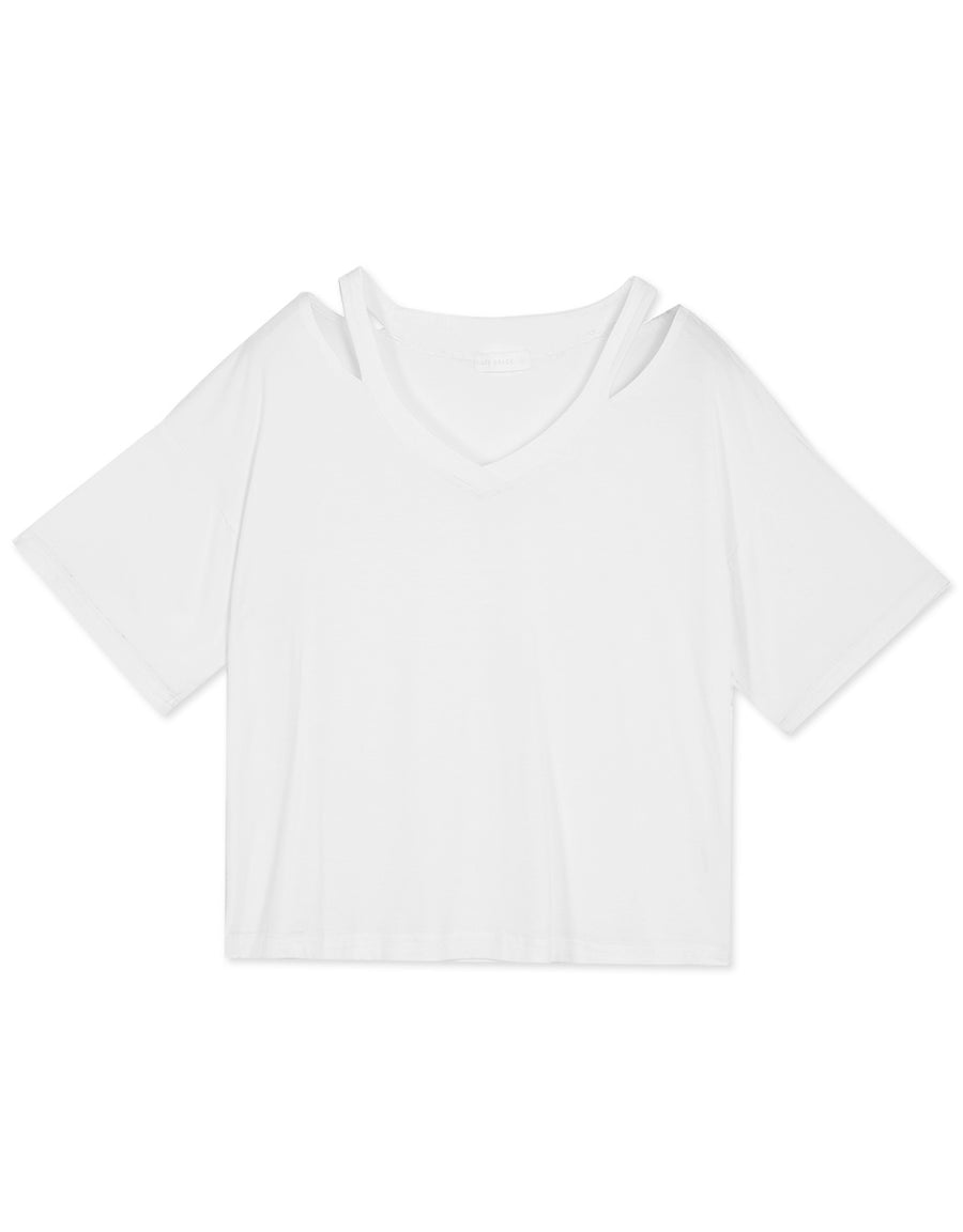Minimalist Cold Shoulder Top