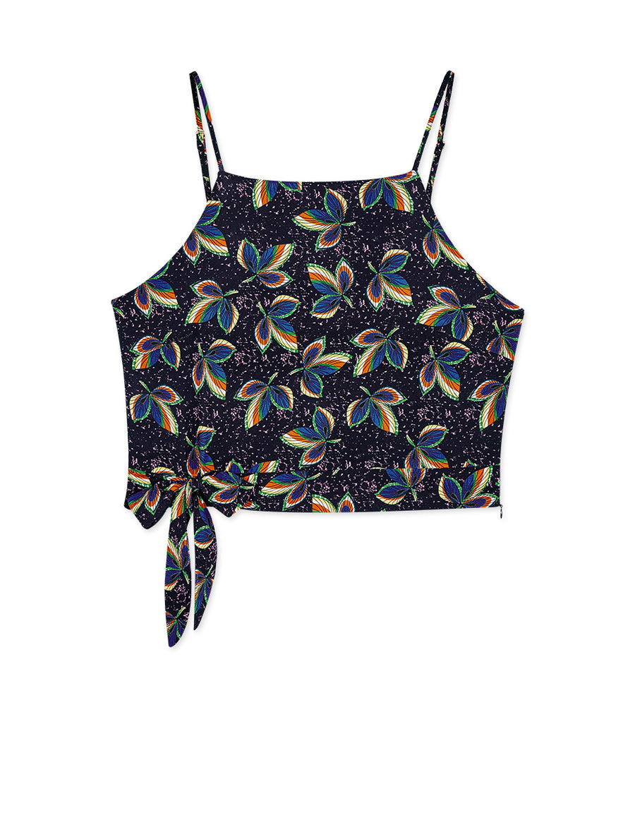 Printed Side Tie Camisole