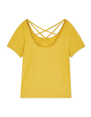 Simple Back Crossover Top