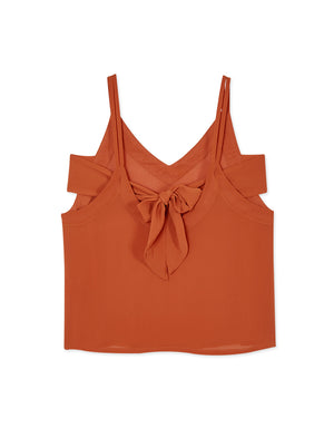Double Strap V Neck Top