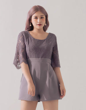 Lace Chiffon Playsuit