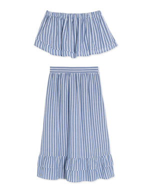 (PRE-ORDER ETA-30 MAY) Stripe Flounce Tube Set Wear