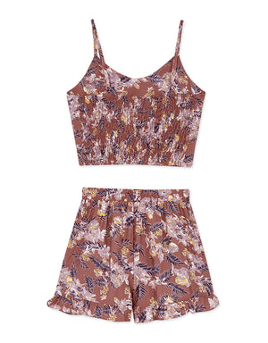 Printed Cami Set Wear ( TOP + SHORTS)