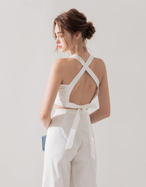 Sexy Hollow Back Knot Set Wear