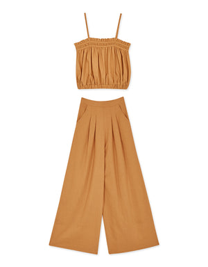 Flowy Crop Top Set Wear