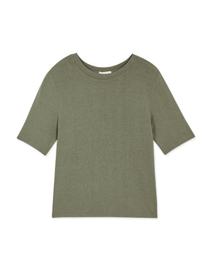 Plain Round Neck Knitted Top