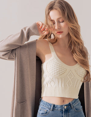 Braided Crop Knitted Camisole