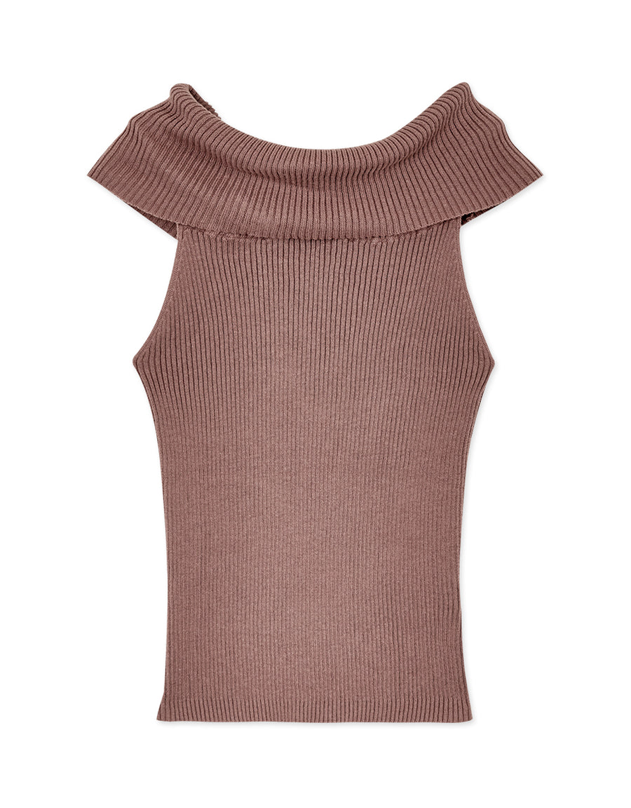 Turndown Collar Knitted Camisole