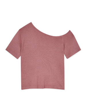One Shoulder Knitted Top