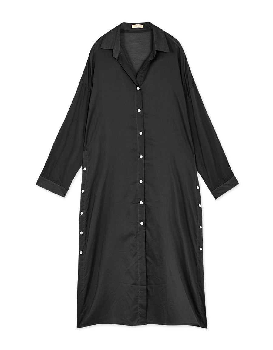 Button Slit Longline Shirt