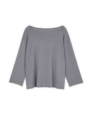 Cotton Side Slit 3/4 Sleeve Top