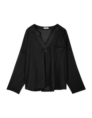 V-Neck Long-Sleeve Blouse
