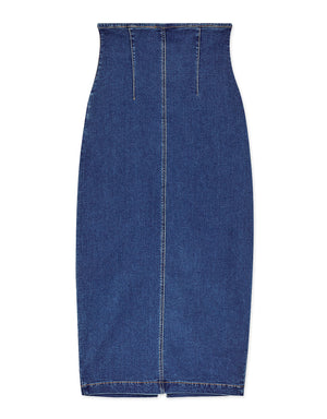 Jeans High-Waisted Slit Long Skirt