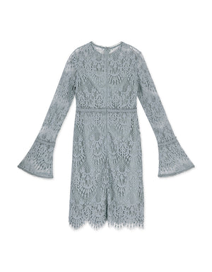 (PRE-ORDER ETA 5/6) Curvy Soft Lace Long Sleeve Dress