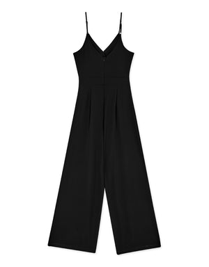 Thin Strap Lace Waist Cut Out Jumpsuit