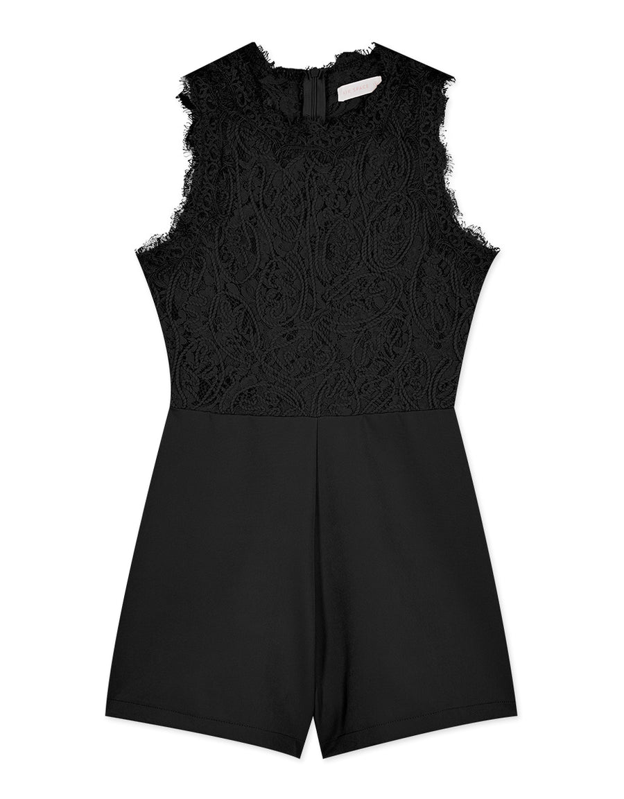 Disc Flower Lace Sleeveless Playsuit