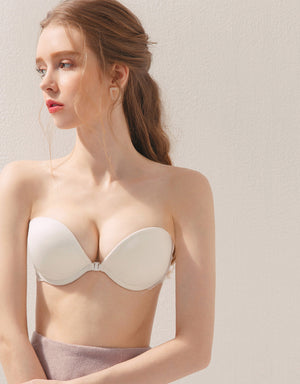 Cross Back Sexy Side Lace Strapless Bra