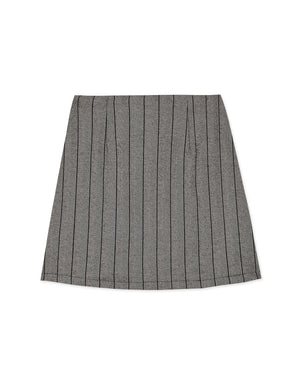 Vintage Striped Button Up A-Line Skirt