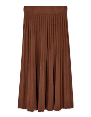 Fit & Flare Pleated Midi Skirt
