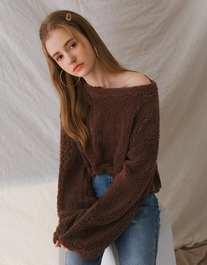 Soft Fluffy Suede Long Sleeve Top