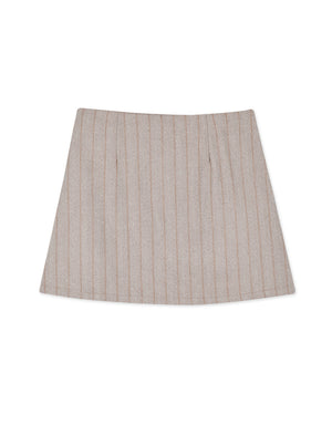 Vintage Striped Buttoned A-Line Skirt