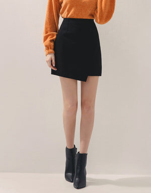 Asymmetrical Twill A-Line Skirt