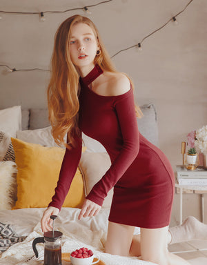 Sexy Curve One Shoulder Cut Out Bodycon Dress