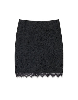 Romantic Eyelash Lace Skirt