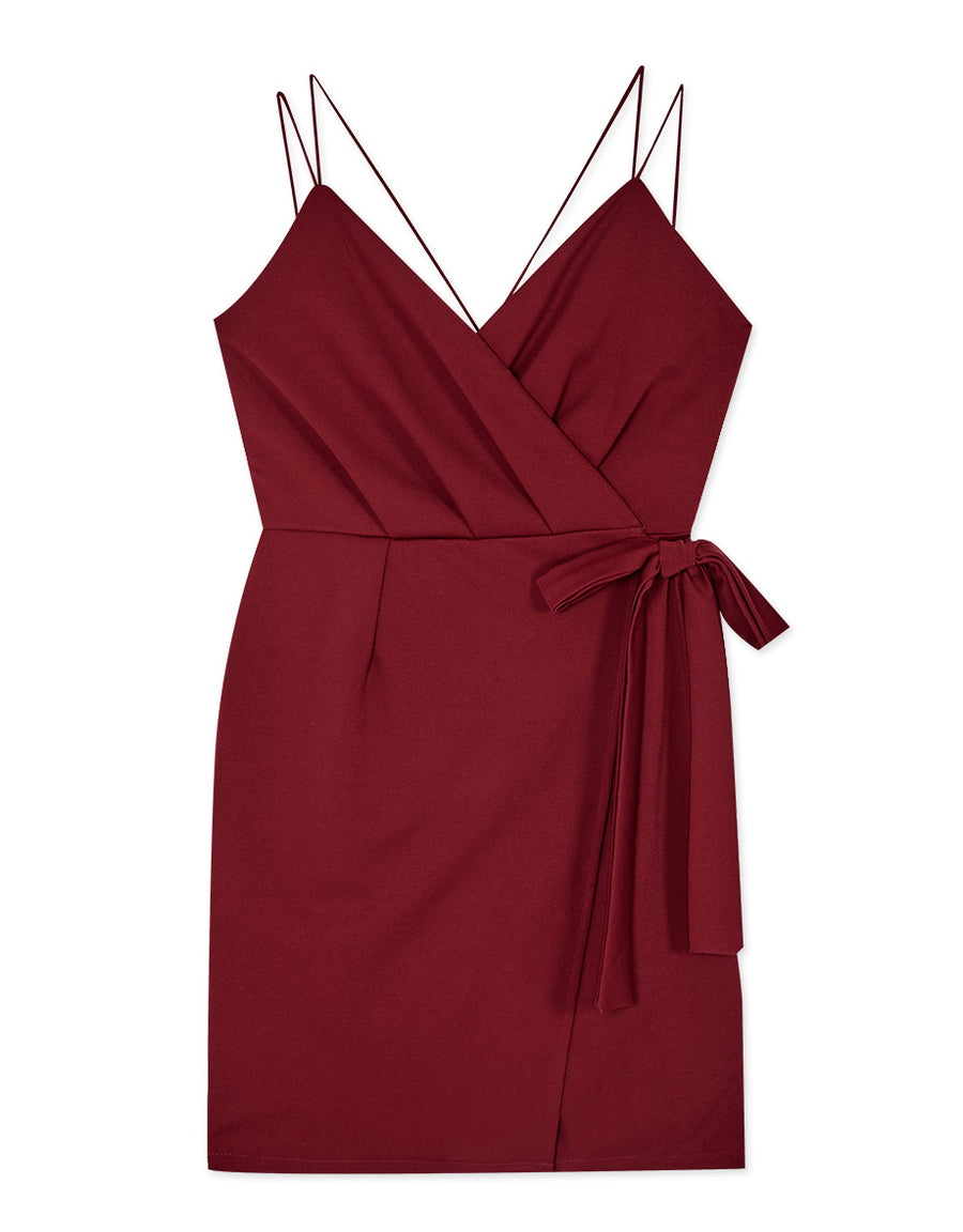 Double Thin Strap Cross Back Dress