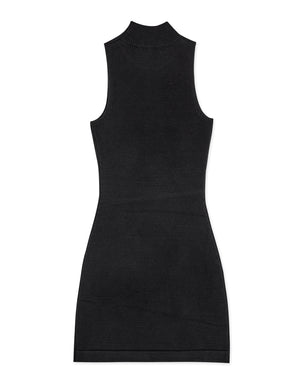High Neck Bodycon Knitted Tank Dress