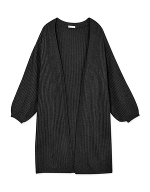 Minimalist Knitted Long Cardigan