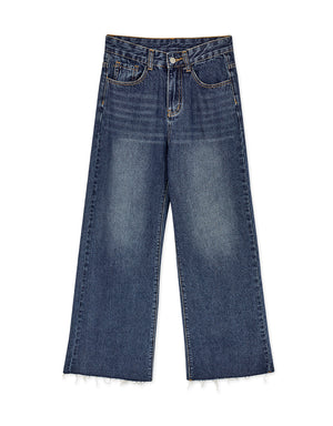 Sleek High Rise Wide-Leg Denim Jeans