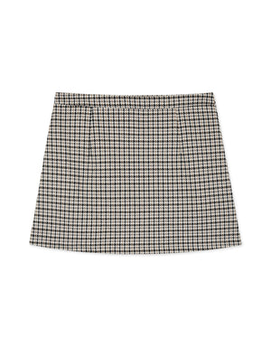 Houndstooth A-Line Skirt