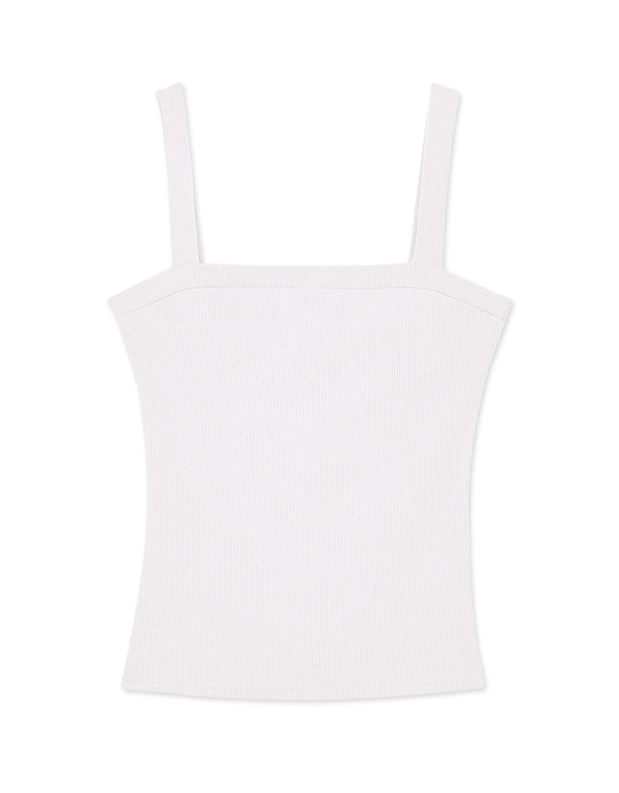 Thick Strap Ribbed Tube Tank Top