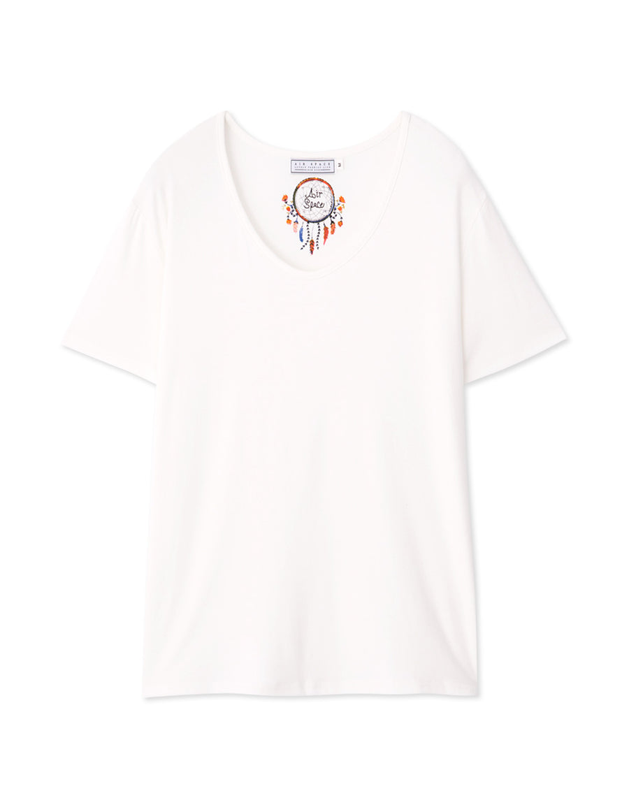 Dreamcatcher Print Plain Tee