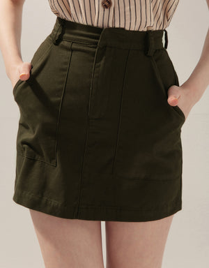 Minimalist Pocket Tailored Skirt
