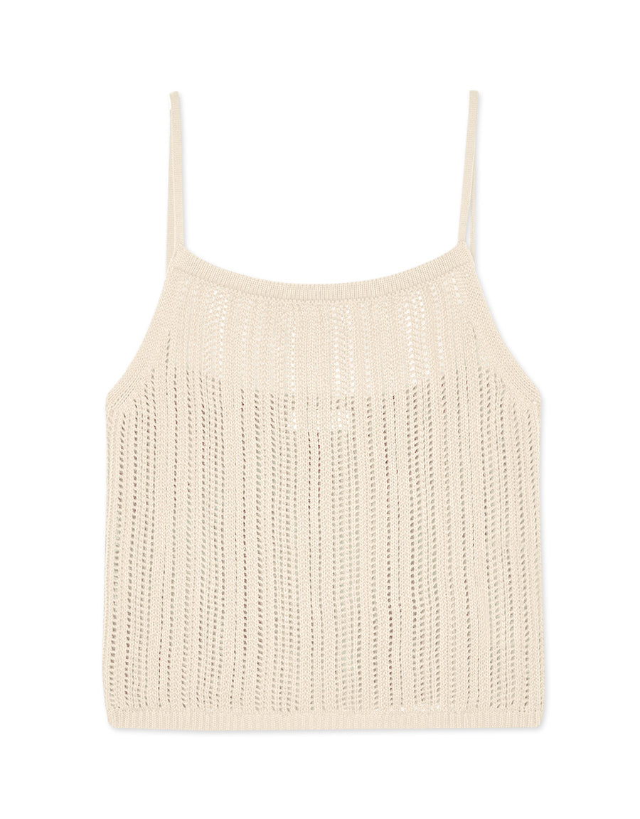 Sheer Knitted Cami Top