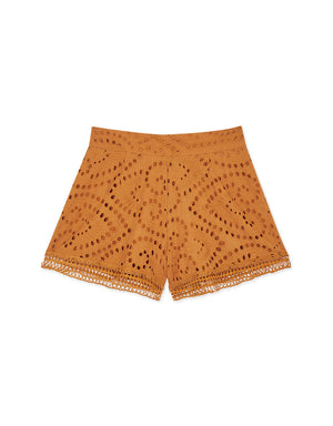 Broderie Lace Flare Shorts