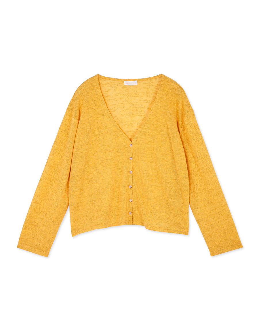 V-Neck Button Up Crop Knitted Cardigan