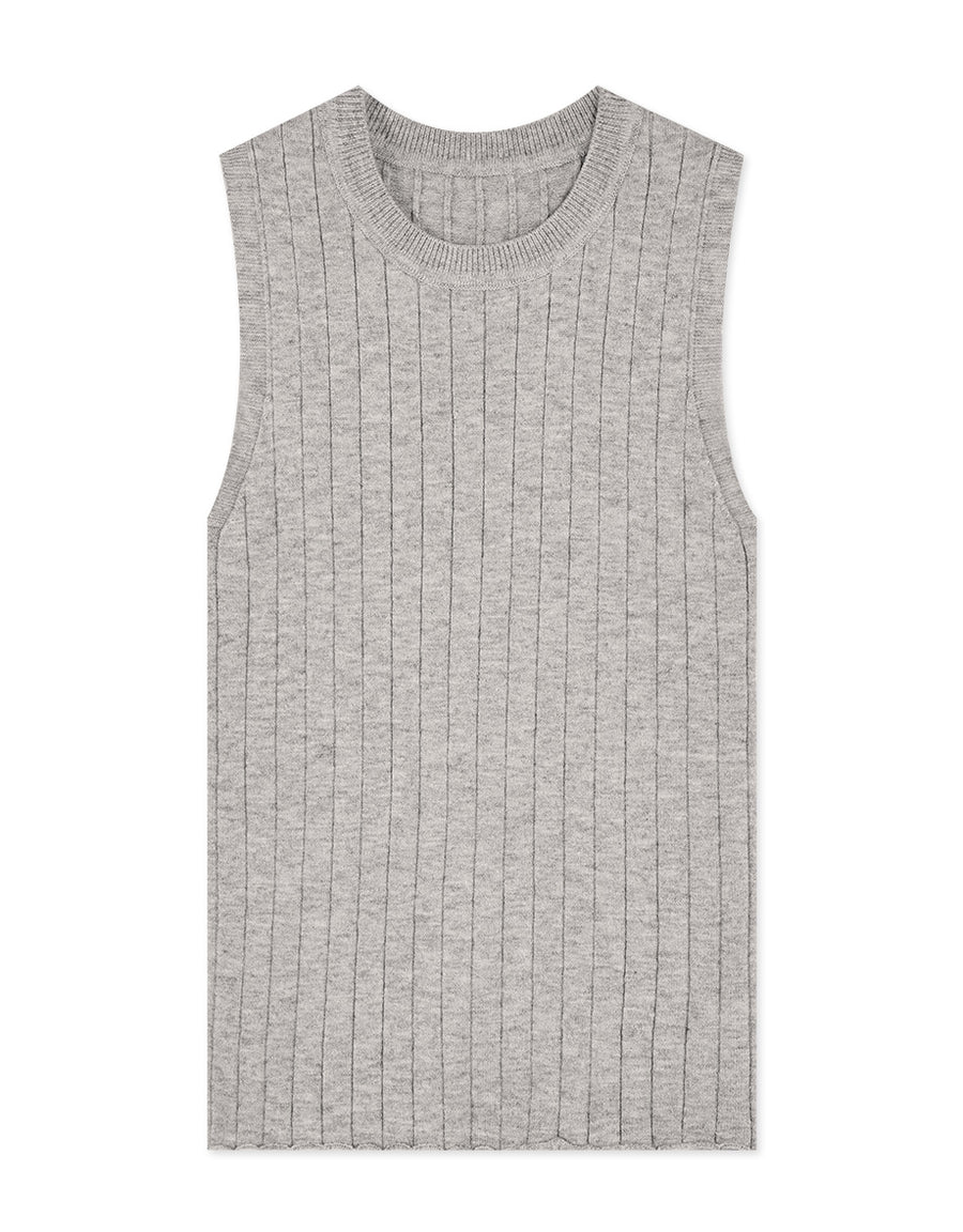 Comfy Ribbed Sleeveless Tank Top