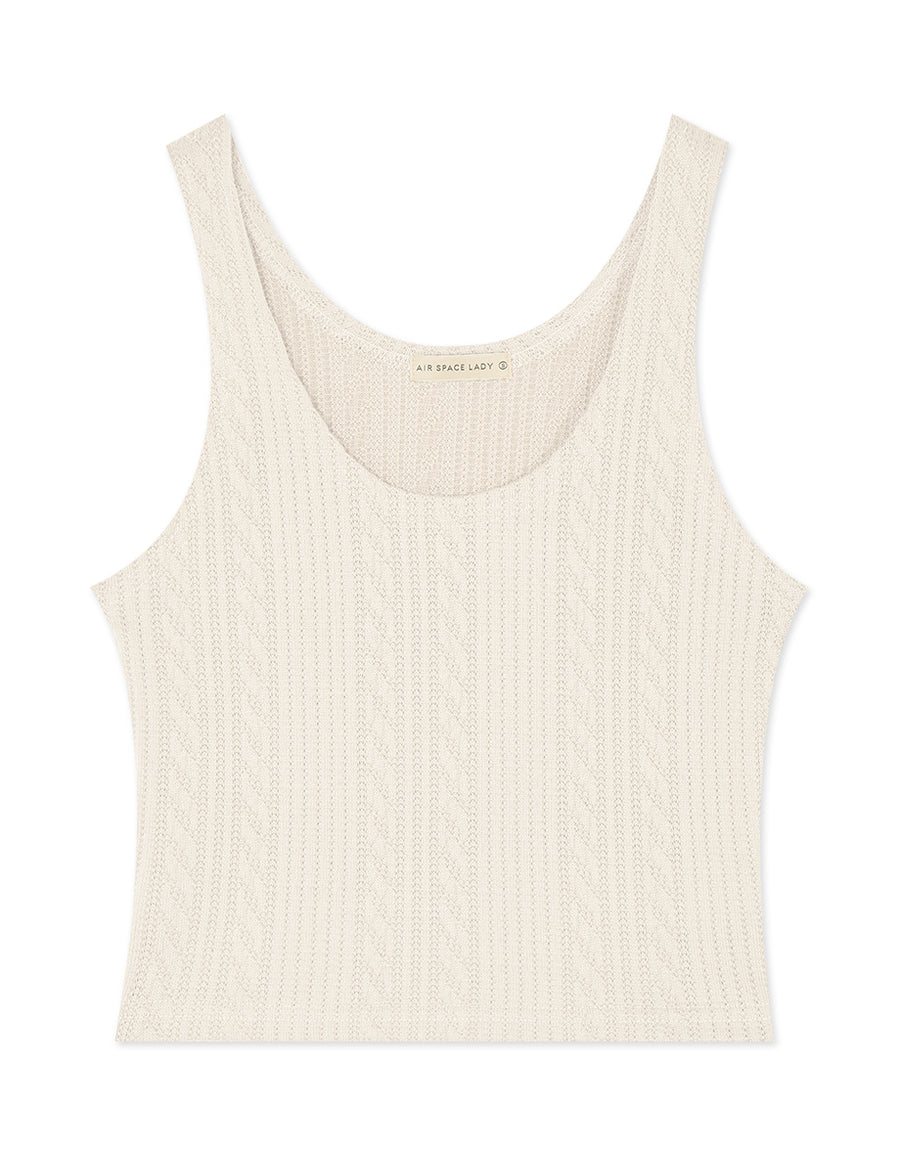 Textured Fitted Tank Top
