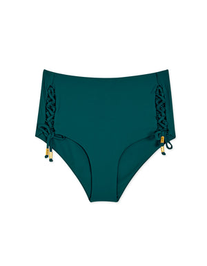 High-Waisted Side Lace-Up Bikini Bottom