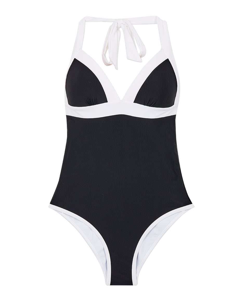 Colour Block One-Piece Bikini