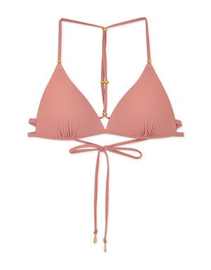 Beaded Y-Shaped Push-Up Bikini Top