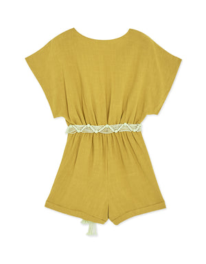 Crossover Cinched Waist Belted Playsuit